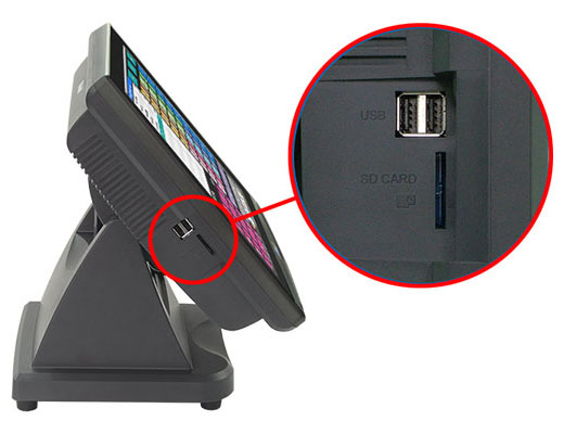 Easy access to USB / SD card slot